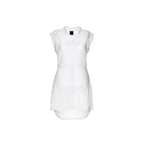 front,white apron-vest, organic cotton, fair and local produced in Berlin